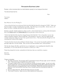 Persuasive Business Letter - Design Templates