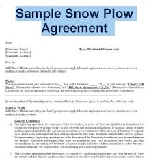 Snow Removal Agreement And Contract Sample Contracts
