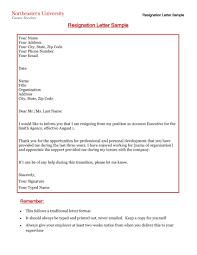 Sample Format Of Resignation Letter Pdf Copy Job Notice Letter For