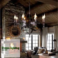 8 arm retro industrial wind globe satellite chandelier living room lighting