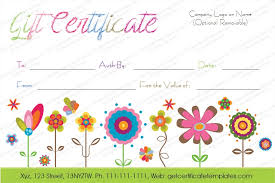 Free Customizable Gift Certificate Template Free Customizable Birthday Gift Certificate Template