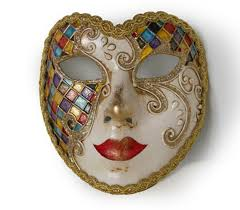 Masquerade Mask Template Beauteous Full Face Venetian Mask Heart Mask With Harlequin Pattern Etsy