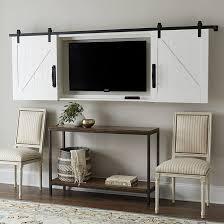 Barn Door TV Wall Cabinet