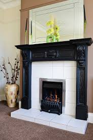 elegant images of black fireplace mantel for your inspiration