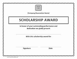New Certifi New Certificate Of Scholarship Award Samples Fresh