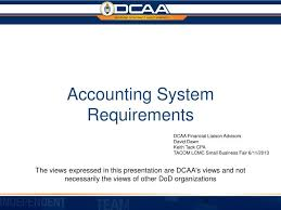 Dcaa Organization Chart Ppt Accounting System Requirements Powerpoint Presentation