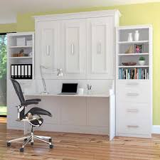 wall bed with desk. Bed \u0026 Room Porter Queen Portrait Wall With Desk And Two Side Towers In White N