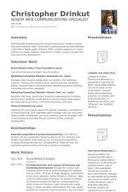 Digital Strategist Resume Digital Marketing Strategist Resume Samples Visualcv Plus