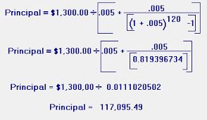 Calculate Loan Payment Formula Loan Payment Formula Principal