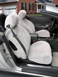 tailor made sheepskin seat covers solid color