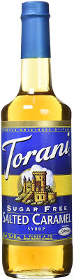 torani sugar free salted caramel syrup with splenda 750ml