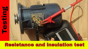 Motor Resistance Chart How To Test 3 Phase Motor Using Megger Winding Resistance And Insulation Test