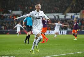 Nonton live streaming swansea city vs manchester city. Swansea 2 3 Manchester City Sergio Aguero Hits Late Winner As Vistors Complete Comeback Daily Mail Online