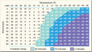 Human Temperature Chart Solved Refer To The Windchill Equivalent Temperature Chart