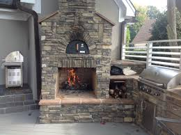 ... Home Decor: Outdoor Fireplace With Pizza Oven Best Home Design Lovely  On Design A Room ...
