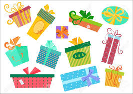Design Pack Gifts Flat Design Gifts Boxes Set Vector Gift Box Present With Ribbon