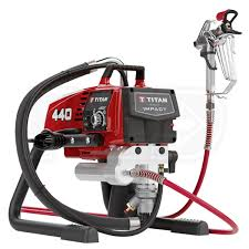 titan 440 impact 3300 psi 54 gpm electric airless sprayer skid w hose tip