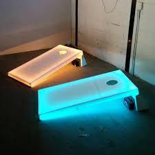 Cornhole Table Light Up Regulation Size Glowing Bag Toss Set Home ...