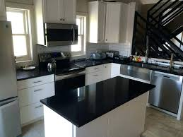 black kitchen cabinets with white marble countertops. Black Kitchen Countertops White And Cabinets With Marble C
