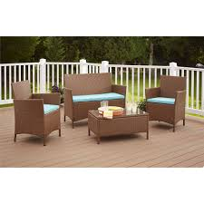 outdoor patio wicker chairs. outdoor patio furniture cushioned 5pc rattan wicker aluminum frame sectional sofa set - walmart.com chairs