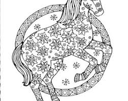 Small Picture Horses coloring page Etsy