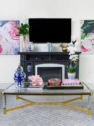 The bold shape and color are the embodiment of masculinity. 5 Chic Glam Coffee Table Decor Ideas Monica Wants It