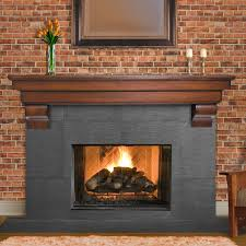 image of wood fireplace mantel shelf