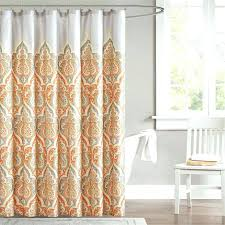 orange shower curtains fabric orange shower curtain rings bathroom furniture burnt orange shower curtains south