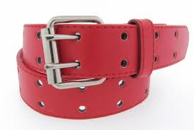 double grommet 2 holes leather belt 2 g