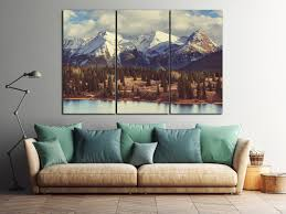 3 panel colorado mountains leather print large wall art large wall decor nature print 3 pieces wall art made in italy better than canvas  on 3 piece wall art mountains with 3 panel colorado mountains leather print large wall art large wall