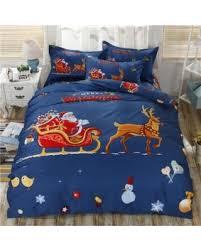 Hot Sale: Kimimart Christmas Style 4Pcs Bedclothes Cute Christmas ... & Kimimart Christmas Style 4Pcs Bedclothes Cute Christmas Floral Pattern Thick  Cotton Duvet Quilt Cover +Bed Adamdwight.com