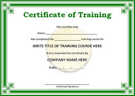 Training Templates For Word 10 Training Certificate Templates Free Printable Word