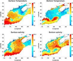 Surface And Bottom Temperature And Salinity Climatology