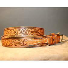 western clothing mens belt vintage tex tan tooled leather