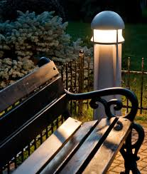 Rugged Commercial Bollard HIT Or CFL Lamps - Exterior bollard lighting