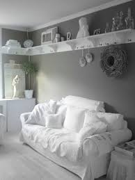 shabby chic white casual cozy shabby chic style with shelves that wrap around the top of the wa