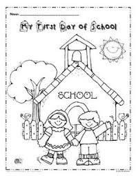 Small Picture Free My First Day of School Coloring page I love this cover