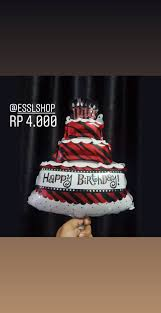 Jual Balon Foil Happy Birthday Cake Mini Balon Hbd Balon Kue Ulang