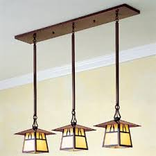 mission style kitchen lighting. The Generous Sloping Roof Of This 3 Light In-line Chandelier Echoes Silhouettes Classic Bungalows. Find Pin And More On Craftsman Style Kitchens Mission Kitchen Lighting