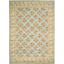 safavieh lyndhurst fl lattice blue blue indoor oriental area rug common 8 x