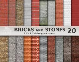 brick digital paper stone digital paper