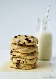 chocolate chip cookies and milk.  And A Glass Of Fresh Milk And A Stack Chewy Chocolate Chip Cookies Is Pure  Heaven For Chocolate Chip Cookies And Milk E