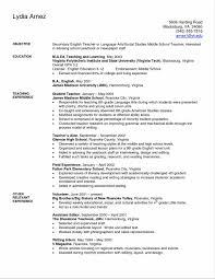 Sample Of Resume For Teachers In Elementary Unique Teacher