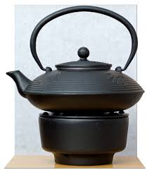 tea warmer cast iron black calligraphy tetsubin teapot kettle 0 8l japanese style