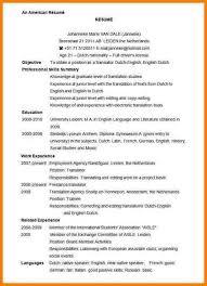 10 North American Resume Format Professional Resume List