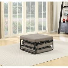 Ottomans For Bedroom Convenience Concepts Designs4comfort Folding Bed Ottoman Taupe