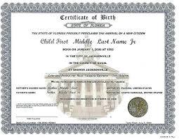 Printable Birth Certificate Template Baby Maker Generator Templates