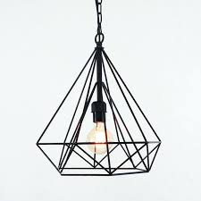 wire ceiling lighting geometric diamond wire cage pendant light wire ceiling lamp shade