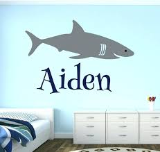 Shark Bedroom Decor Shark Bedroom Decor Wall Decor Lovely Decals World  Image Personalized Name Shark Wall