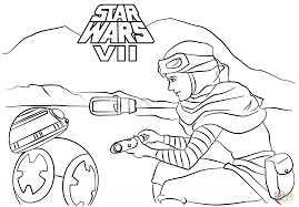 Free Coloring Pages Rey And Super Lineart Star Wars Coloring Pages